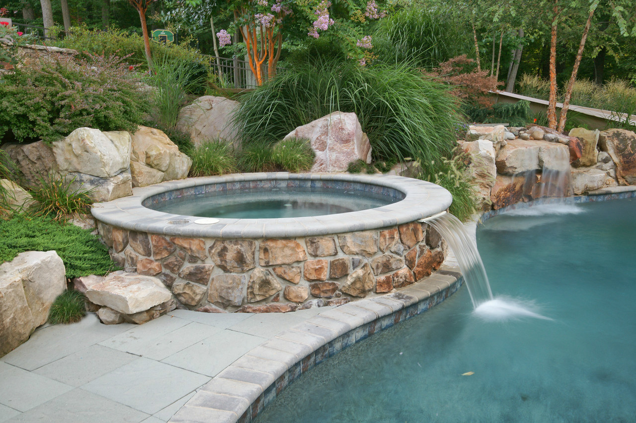 Inground Pools With Waterfalls maryland custom inground swimming pools | pool installation md