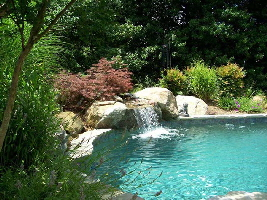 Natural swimming pool waterfalls in annapolis md