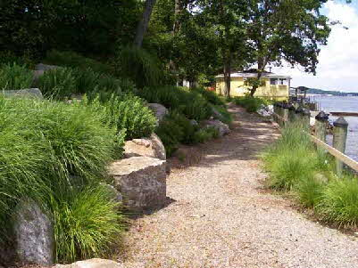 Artistic landscaping tours in maryland by creative land design for Waterfront landscape design
