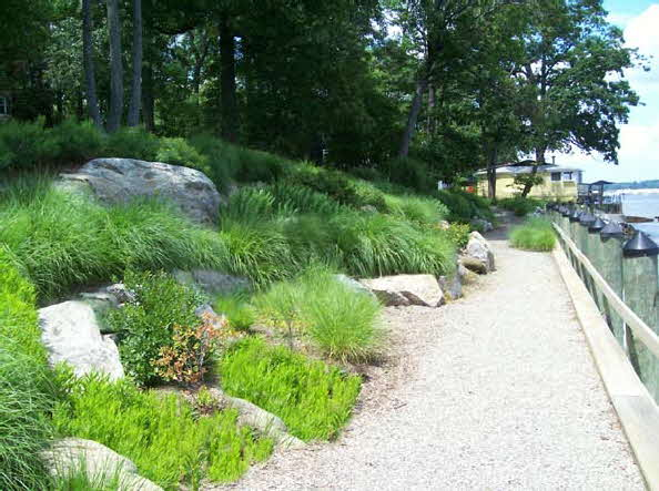 Water front landscaping maryland waterfront landscape design for Waterfront landscape design