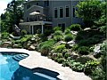 <b>Living Wall Pool</b><br>Native rocks...., Natural plantings.... Is it a retaining wall or a rock garden?- BOTH!