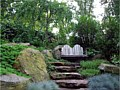 <b>Living Wall Steps</b><br>Natural boulders, plants with stone steps. A nice retreat!
