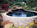 <b>custom natural swimming pool water fall</b><br>picture of custom concrete in ground swimming pool in laurel maryland