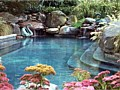 <b>custom natural swimming pool waterfalls queenstown md</b><br>photo of custom natural inground concrete swimming pool waterfalls