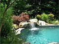 <b>custom swimming pool water falls photo</b><br>annapolis maryland picture of custom swimming pool waterfalls
