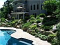 <b>Living Wall Pool</b><br>annapolis maryland swimming pool retaining wall, rocks, boulders,stone wall