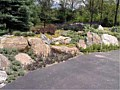 <b>Rocks Shown in Wall</b><br>Picture of Living rock retaining wall in Maryland