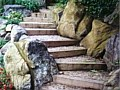 <b>Living Wall Steps</b><br>Boulder rock steps and plantings in Severna Park Maryland