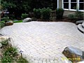 <b>Natural paver rock patio hardscape.</b><br>Pictures of custom natural paving stone patio with boulders in annapolis maryland