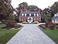 <b>Paver driveway after picture.</b><br>Hardscaping design with pavers, fountains in eastern shore maryland.
