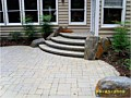 <b>custom modular wall steps picture</b><br>photo of segmented steps with boulders in annapolis maryland.