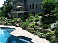 <b>Living Wall Pool Photo</b><br>Hardscaping with pavers, rocks, boulders, retaining walls, in Annapolis Maryland.